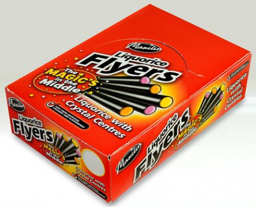 A04 BOX LIQUORICE FLYERS x 40 (NEW SIZE)